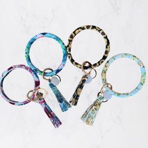 Key Ring Bracelet/Key Wristlet/Key Ring Keychain